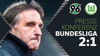 """""""Wir hatten das Spiel im Griff...""""   Pressekonferenz   Hannover 96 - VfL Wolfsburg 2:1"""