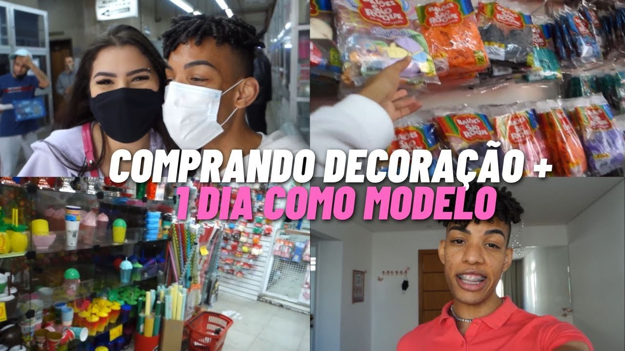 VLOG - COMPRINHAS DECORÇÃO DA FESTA + JOB COMO MODELO