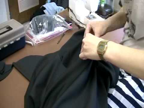 "Stop motion cutting and sewing a Julian Roberts ""s..."
