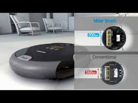 samsung navibot sr8980 robotic vacuum cleaner youtube. Black Bedroom Furniture Sets. Home Design Ideas