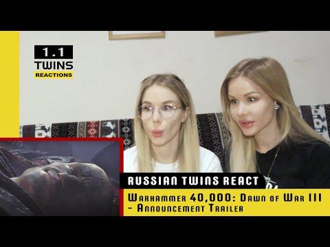 Russian twins watch Warhammer 40,000: Dawn of War III - Announcement Trailer for first time! |