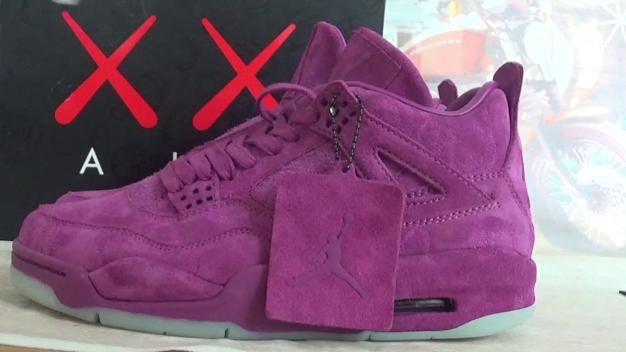 d50c3aea4ce6e6 KAWS x Air Jordan 4 Burgundy from gokicks.cn - YouTube