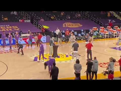 JaVale McGee gets his championship ring from the LA Lakers !