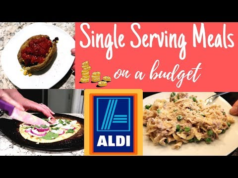 SINGLE SERVING LUNCH & DINNER RECIPES! IDEAS! UNDER $2 EACH FROM ALDI!