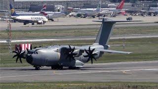 Airbus Defense A400M EC-400 Landing at Toulouse-Blagnac Airport