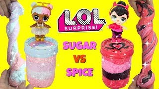 D.I.Y. LOL Surprise Sugar VS Spice Slime Challenge Fluffy Slime!