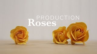 How to Produce Gumpaste Roses Quickly | Global Sugar Art