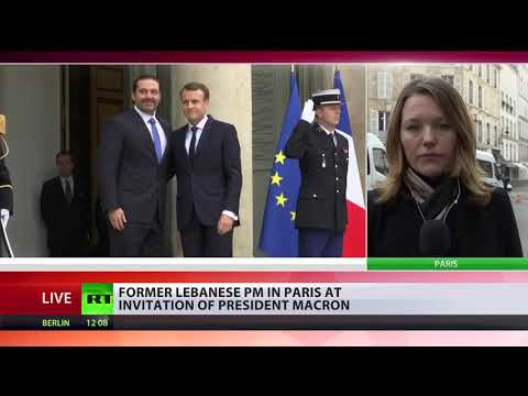 RT: Lebanon's Hariri arrives in Paris for talks with Macron