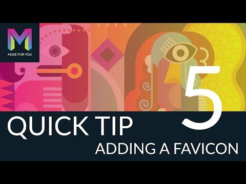 Quick Tip #5 - Adding a Favicon | Adobe Muse CC | Muse For You