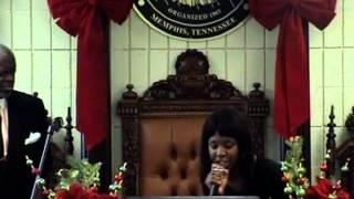 Lady D Preaching @Christian Pavilion COGIC 12/28/14