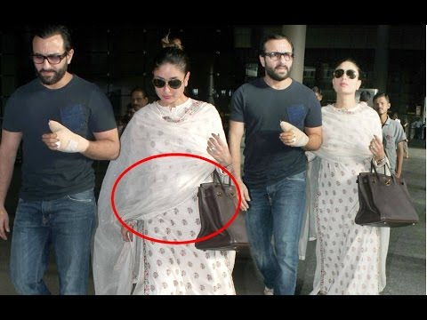 Pregnant kareena kapoor flaunts her baby bump while out with saif ali