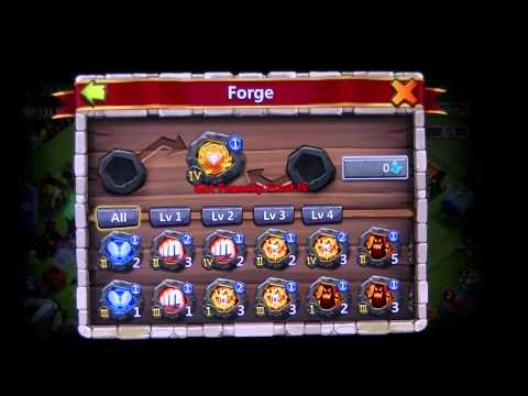 Castle Clash IOS Forge For Psyshield Crest