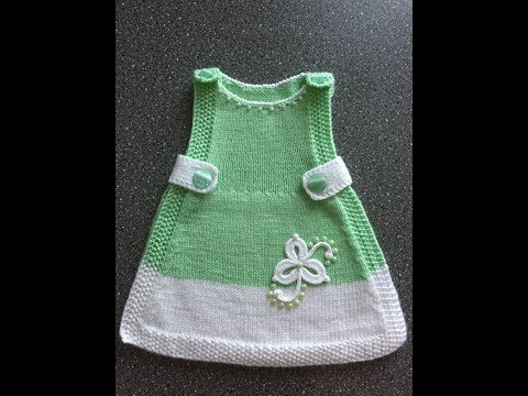 Вяжем спицами платье для малышки