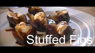 Mascarpone stuffed Figs with Honey and Balsamic