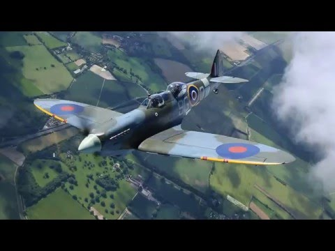 Spitfire air-to-air over Kent