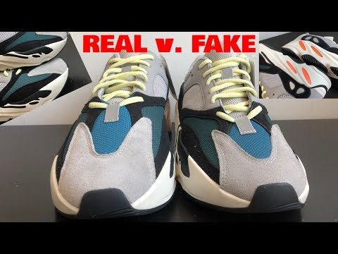 "Adidas YEEZY 700 ""WAVERUNNER"" REAL v. FAKE COMPARISON"