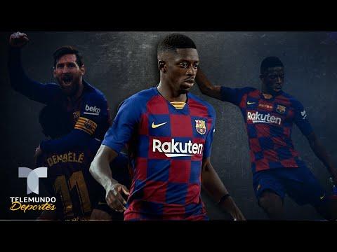 El golazo a lo Messi con el que Dembélé pide paso en el Barcelona | Telemundo Deportes