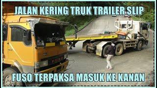 Tiga Trailer Mulus Nanjak Satu Nyangkut, Oto Aie Balapan Nyalip Trailer Ditikungan Sitinjau Lauik