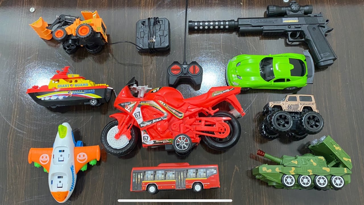 My Latest Cheapest toys Collection, RC Car, Bike, Boat, Tank, Bus, RC jcb, Music Gun toy, Truck