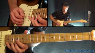 I Wish it Would Rain Down Guitar Lesson - Eric Clapton - Phil Collins