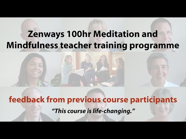 Zenways Meditation and Mindfulness Teacher Training Feedback