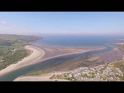 Teifi estuary from above