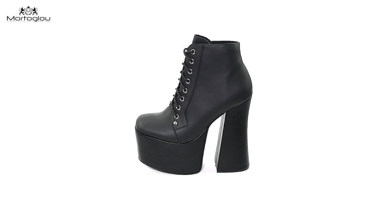 f6f090b0bfe Γυναικεία Μποτάκια Jeffrey Campbell Gotham Black Leather - YouTube