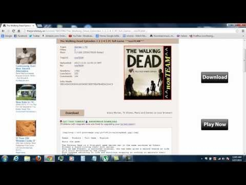How To Get And install The Walking Dead Game On Your PC for FREE!!!