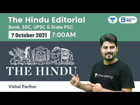 The Hindu Editorial Analysis | The Hindu Analysis | 7 October 2021 | By Vishal Parihar