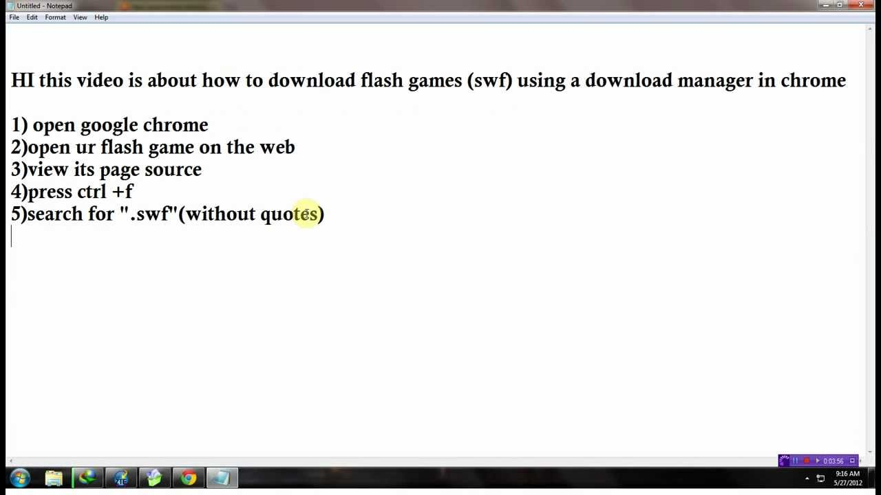 how to download flash (swf)games on chrome