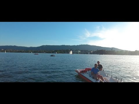 DRONE OVER LAKE ZURICH