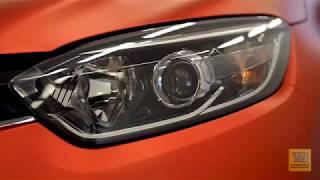 """#Renault #Kaptur. Оклейка пленкой """"Оранжевый матовый хром""""."""