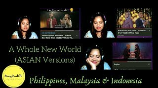 Filipina Reaction to 3 versions of A Whole New World MP3