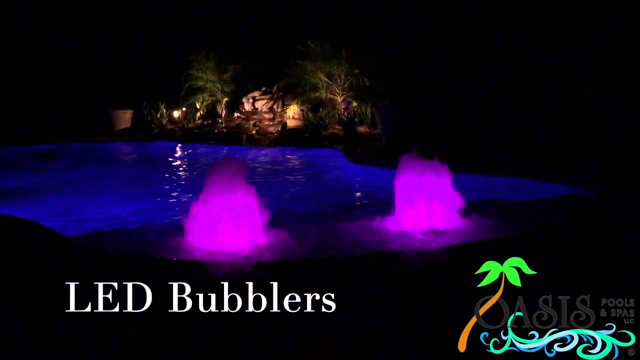 LED Bubblers - Oasis Pools and Spas, LLC