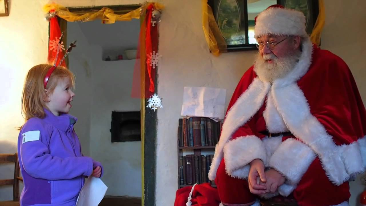 Wicken Christmas.Evie Visits Father Christmas At Wicken Fen