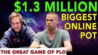 $1.3 Million Dollar Pot Online!!!! Patrik Antonious vs Isildur1 | PLO