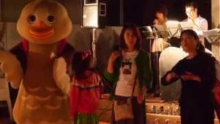 宮城県大崎市古川の七日町商店街で開催された、なないろデー 音と光のペ...