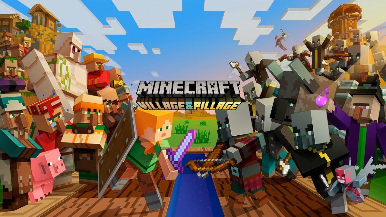 Minecraft Village Pillage Update Youtube
