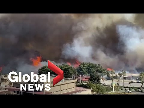 Turkey wildfire: Homes evacuated as fire spreads near residential areas in the south