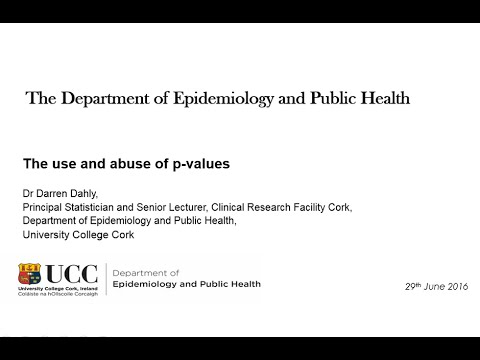 Dr Dahly - The use and abuse of p-values