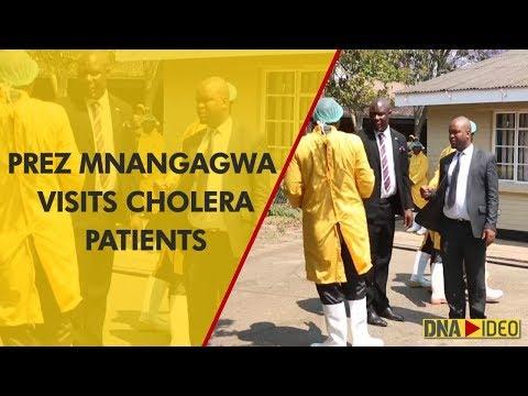 Zimbabwe's Mnangagwa visits cholera patients