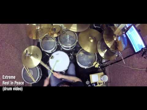 Extreme - Rest In Peace (drum video)