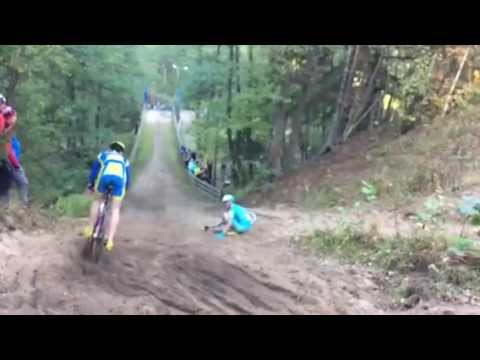 Rein Taaramäe (Astana) crash in Estonian Cyclocross Championship 11.10.2015