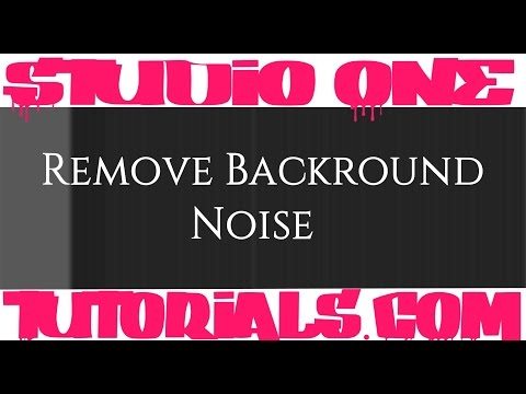 Beginner Vocal Mix | How to get rid of backround noise | Studio One | Presonus