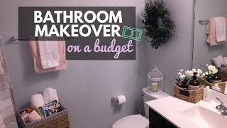 DIY | BATHROOM MAKEOVER ON A BUDGET