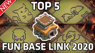 TOP 5 | TH 8 FUNNY BASE LINK 2020|FUN BASE| TOWN HALL8 BASE WITH LINK |TH8 BASE LINK| CLASH OF CLANS