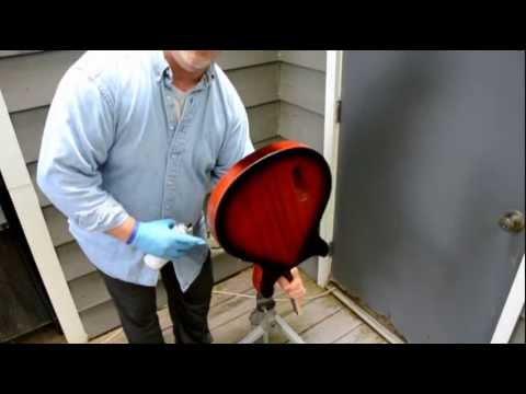 How to Apply a Vintage, Two-Tone Sunburst finish using Spray Cans! Part 4-Spraying Dark Burst edges