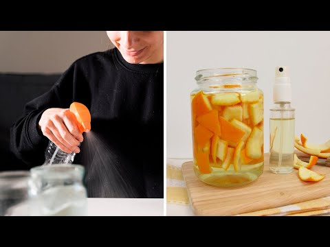How to Make Homemade Citrus Vinegar All-Purpose Cleaning Spray