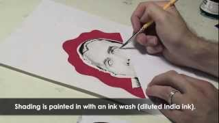 Drawing Dracula speed painting