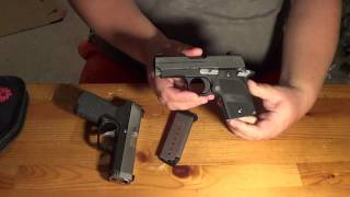 sig p938 vs kahr cw9 size feature comparison